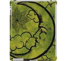Moon vintage green black iPad Case/Skin