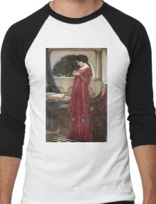 John William Waterhouse - The Crystal Ball . Woman portrait: sensual woman, girly art, female style, pretty women, femine, beautiful dress, cute, creativity, love, sexy lady Men's Baseball ¾ T-Shirt