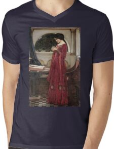 John William Waterhouse - The Crystal Ball . Woman portrait: sensual woman, girly art, female style, pretty women, femine, beautiful dress, cute, creativity, love, sexy lady Mens V-Neck T-Shirt