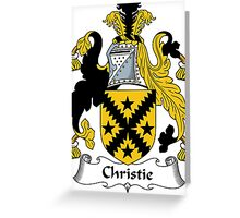 Christie Coat of Arms / Christie Family Crest Greeting Card