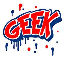 Geek Comic Cartoon Graffiti Stempel by Style-O-Mat