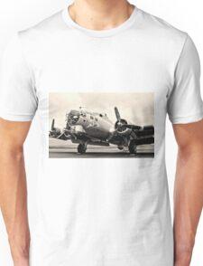 B-17 Bomber Airplane Aluminum Overcast Unisex T-Shirt