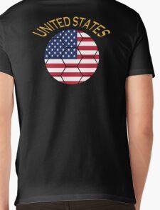 united states Mens V-Neck T-Shirt