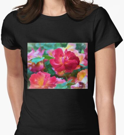 Rose 354 Womens Fitted T-Shirt