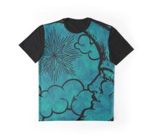 Moon vintage marine blue Graphic T-Shirt