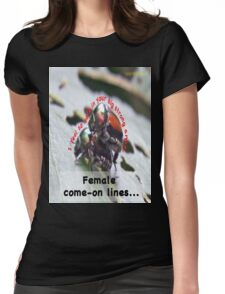 I feel so safe in your big strong arms! Womens Fitted T-Shirt