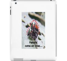I feel so safe in your big strong arms! iPad Case/Skin