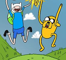 Finn and Jake - Adventure Time  by Benjamin Hill