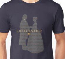Outlander Wedding Silhouette with books list Unisex T-Shirt