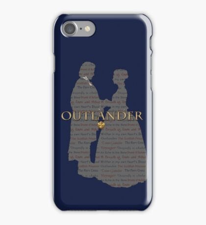 Outlander Wedding Silhouette with books list iPhone Case/Skin