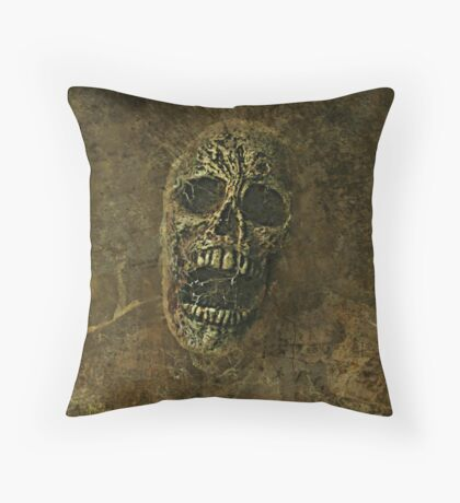 Mr. Skullington Throw Pillow