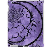Moon vintage violet black iPad Case/Skin