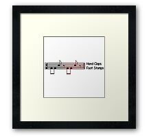 We will rock you white Framed Print