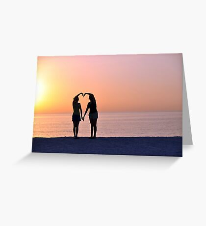 Heart Silhouette Greeting Card