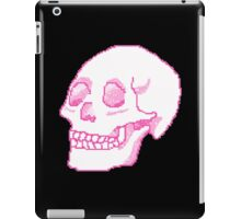 Pastel Pink Pixel Skull iPad Case/Skin