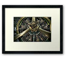Army Airplane Engine Framed Print