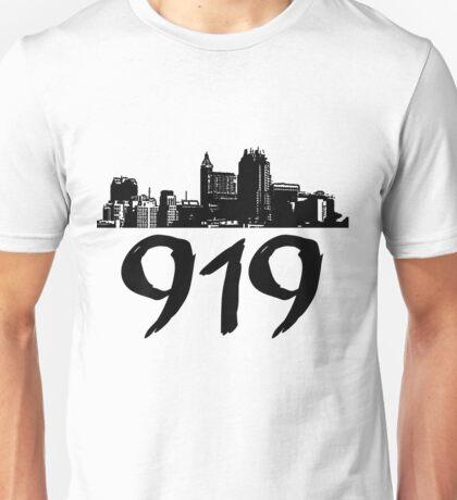 Raleigh - 919 (Black Logo) Unisex T-Shirt