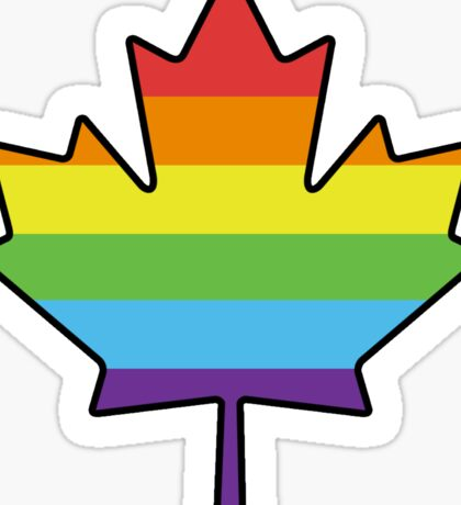 Gay Canadian Sticker