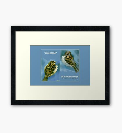 Two Sparrows Framed Print
