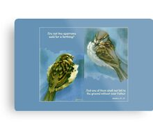 Two Sparrows Metal Print