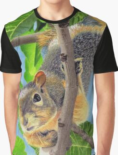 Beautiful Squirrel in Tree Graphic T-Shirt