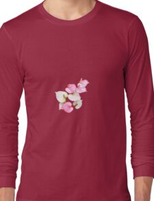 Pink and White Lilies Long Sleeve T-Shirt