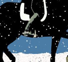 Snowy Dressage Horse Christmas Sticker