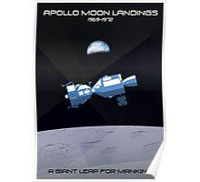Moon Landings Poster