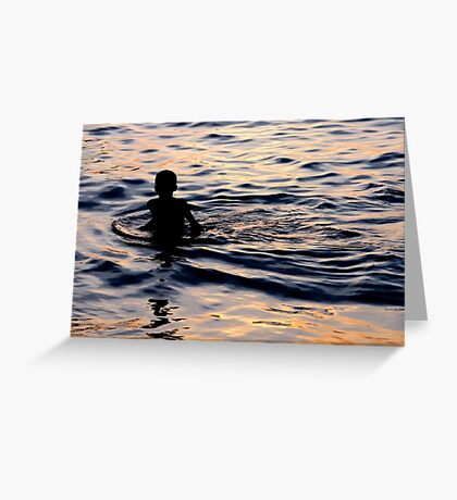 watery flames Greeting Card