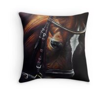 Horse and Tack Throw Pillow