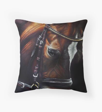 Horse and Tack Throw Pillow