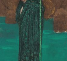 John William Waterhouse - Circe Invidiosa 1892. Woman portrait: sensual woman, girly art, female style, pretty women, femine, beautiful dress, cute, creativity, love, sexy lady Sticker