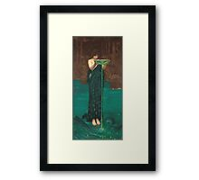 John William Waterhouse - Circe Invidiosa 1892. Woman portrait: sensual woman, girly art, female style, pretty women, femine, beautiful dress, cute, creativity, love, sexy lady Framed Print