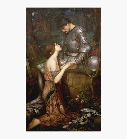 John William Waterhouse - Lamia. Lovers portrait: sensual woman, woman and man, kiss, kissing lovers, love relations, lovely couple, family, valentine's day, sexy, romance, female and male Photographic Print