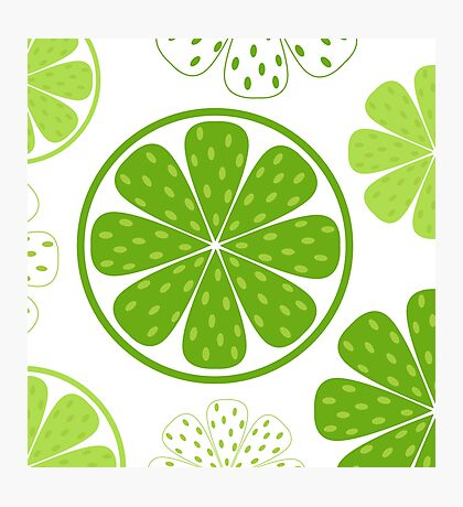 Light and fresh green limette pattern or texture Photographic Print