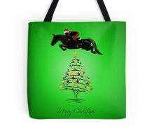 Fun Horse Jumping Christmas Tote Bag