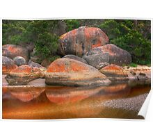 Rock reflection - Tidal River Poster