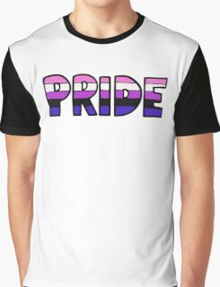 Genderfluid Pride Flag Graphic T-Shirt