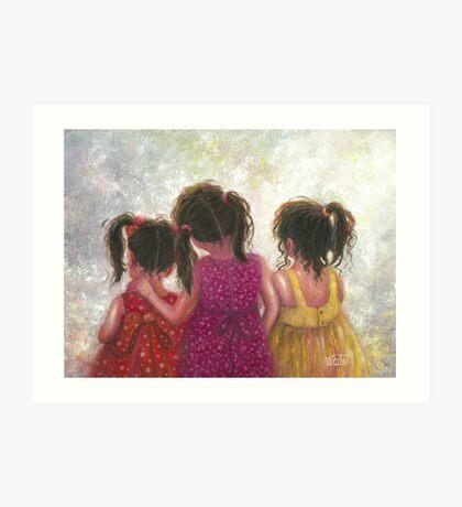 Three Little Sweet Pea Sisters Art Print