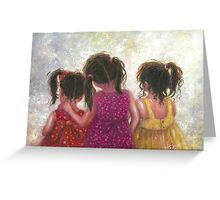 Three Little Sweet Pea Sisters Greeting Card