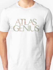 Atlas Genius Vintage Floral Print Unisex T-Shirt