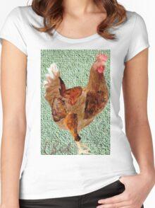 Chicken Dinner Women's Fitted Scoop T-Shirt