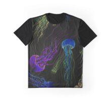Neon JellyFish Graphic T-Shirt