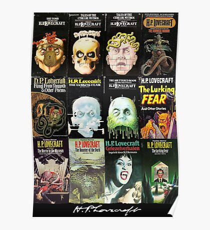 H P Lovecraft Covers Poster