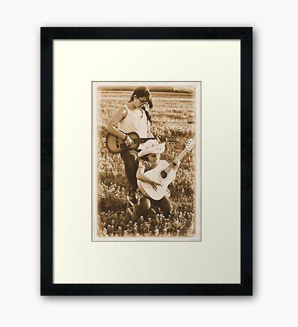 Country Girls Framed Print