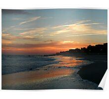 LONG BEACH , NY SUNSET Poster