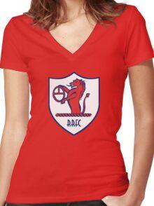 Raith Rovers Badge - Scottish Championship Women's Fitted V-Neck T-Shirt