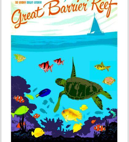 """AUSTRALIA"" Great Barrier Coral Reef Print Sticker"