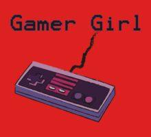 Gamer Girl NES Sketch Controller One Piece - Short Sleeve