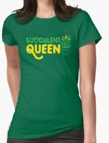 Succulent queen Womens Fitted T-Shirt